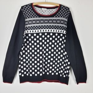 Talbots Womens Pullover Winter Holiday Ski Sweater